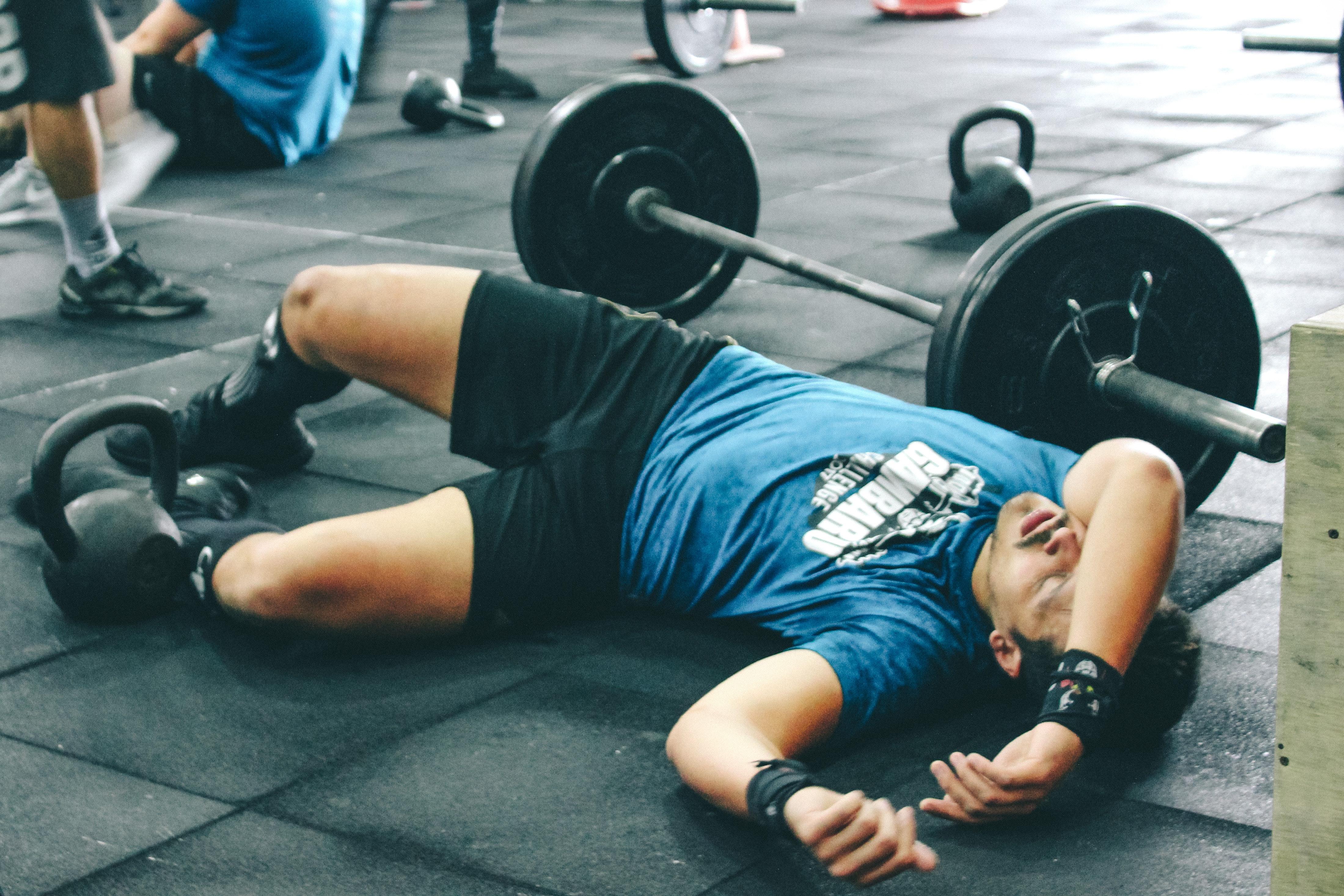 overtrained bodybuilder